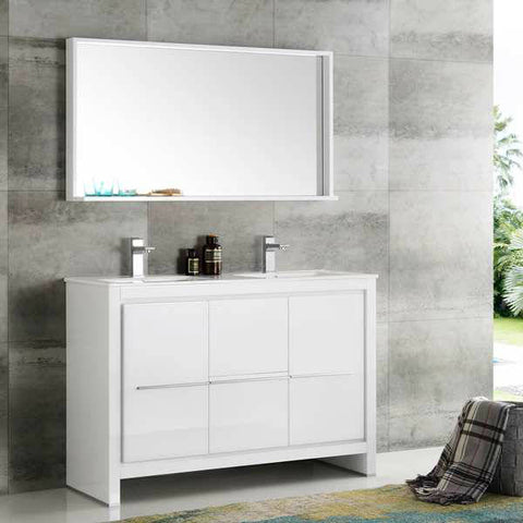 Fresca Allier 48-inch White, Double Bathroom Vanity