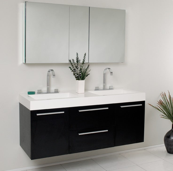 Modern vanity by fresca floating