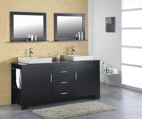 72 Virtu USA Tavian Modern Bathroom Double Sink Vanity