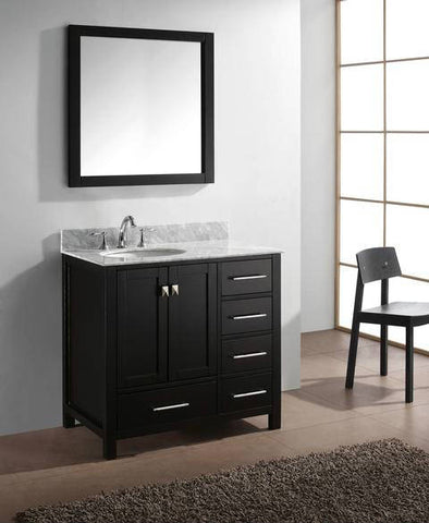 Virtu USA Standing Vanity Set