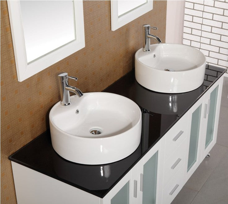 double vessel sink modern vanity