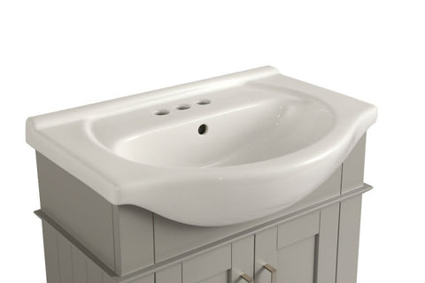 "Image of 24"" GRAY SINK VANITY, NO FAUCET WLF6042-G"