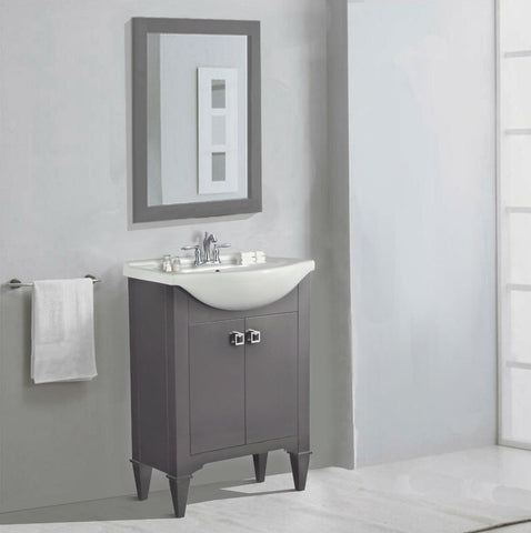 "Image of 24"" GRAY SINK VANITY, NO FAUCET WLF6045-G"