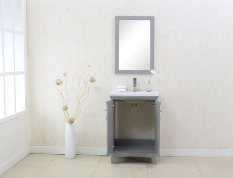 "Image of 24"" GRAY SINK VANITY, NO FAUCET WLF7016-G"