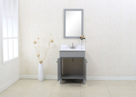 "Image of 24"" GRAY SINK VANITY, NO FAUCET WLF7020-G"