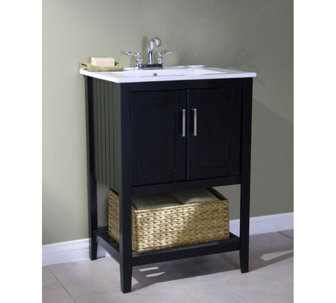 "24"" SINK VANITY WITH BASKET WITHOUT FAUCET WLF6020-E-BS"