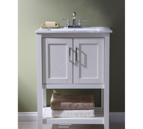 "Image of 24"" SINK VANITY WITHOUT FAUCET WLF6020-W"