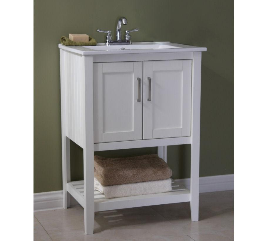 "24"" SINK VANITY WITHOUT FAUCET WLF6020-W"