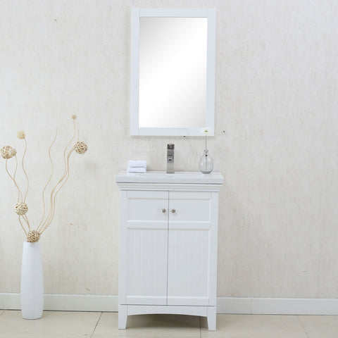 "Image of 24"" WHITE SINK VANITY, NO FAUCET WLF7016-W"