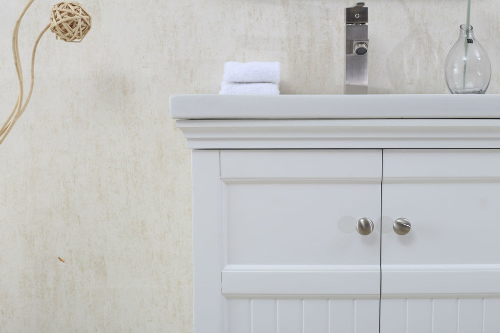 "24"" WHITE SINK VANITY, NO FAUCET WLF7016-W"