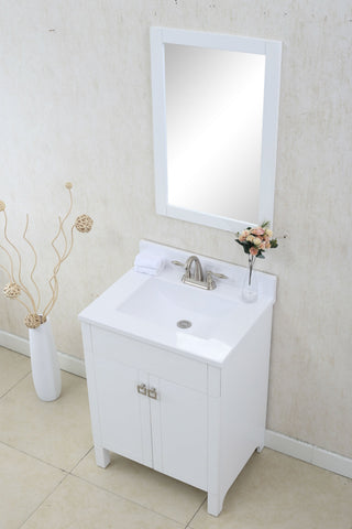 "Image of 24"" WHITE SINK VANITY, NO FAUCET WLF7020-W"