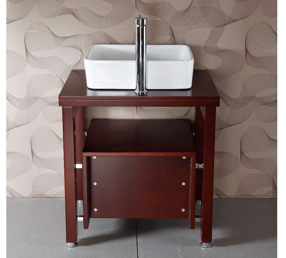 "26.5"" SINK CHEST  - SOLID WOOD - NO FAUCET WA3150"