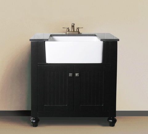 "Image of 30"" ESPRESSO SINK VANITY WITHOUT FAUCET WLF6022-E"