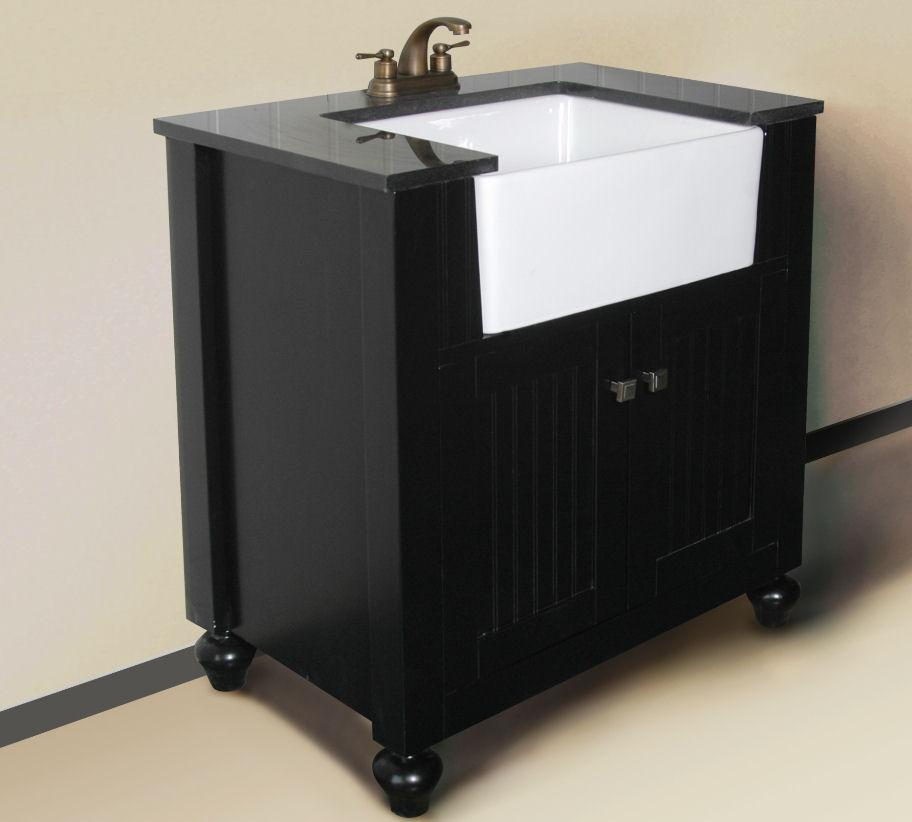 "30"" ESPRESSO SINK VANITY WITHOUT FAUCET WLF6022-E"