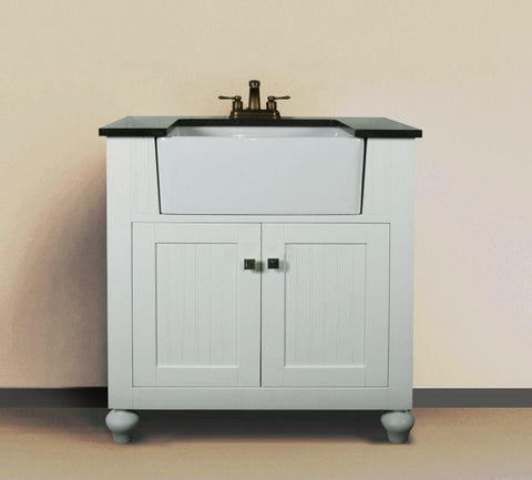 "30"" WHITE  SINK VANITY WITHOUT FAUCET WLF6022-W"