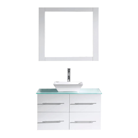"Image of 35"" Single Bathroom Vanity MS-565-G-WH"