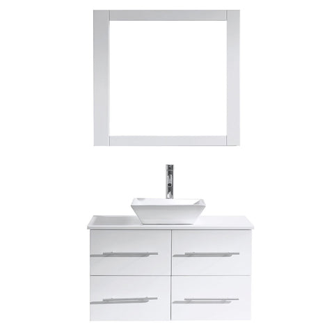 "Image of 35"" Single Bathroom Vanity MS-565-S-WH"
