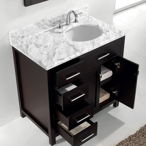 "36"" Single Bathroom Vanity MS-2136L-WMRO-CG"