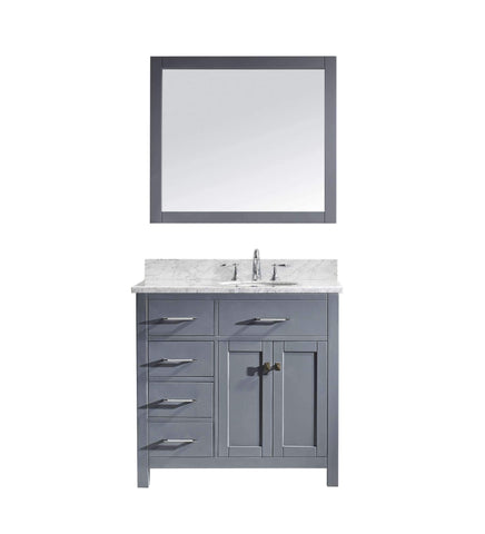 "Image of 36"" Single Bathroom Vanity MS-2136L-WMRO-GR"
