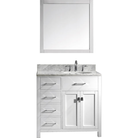 "Image of 36"" Single Bathroom Vanity MS-2136L-WMRO-WH"