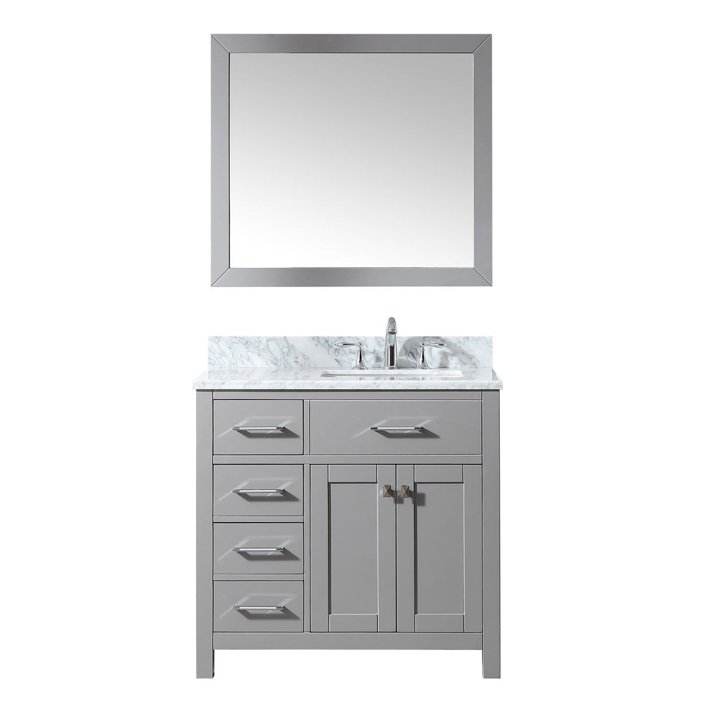 "36"" Single Bathroom Vanity MS-2136L-WMSQ-CG"