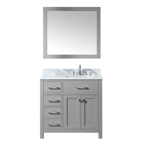 "Image of 36"" Single Bathroom Vanity MS-2136L-WMSQ-CG"