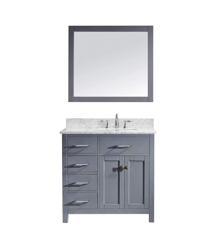 "36"" Single Bathroom Vanity MS-2136L-WMSQ-GR"