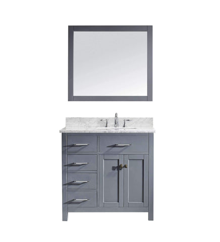 "Image of 36"" Single Bathroom Vanity MS-2136L-WMSQ-GR"