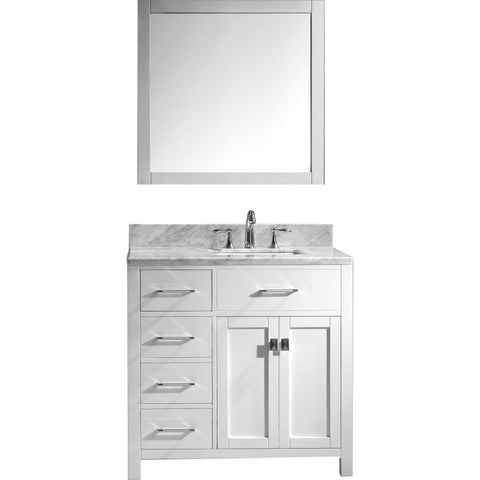 "Image of 36"" Single Bathroom Vanity MS-2136L-WMSQ-WH"