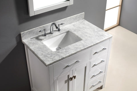 "Image of 36"" Single Bathroom Vanity MS-2136R-WMRO-CG"