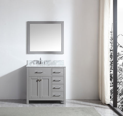 "36"" Single Bathroom Vanity MS-2136R-WMRO-CG"