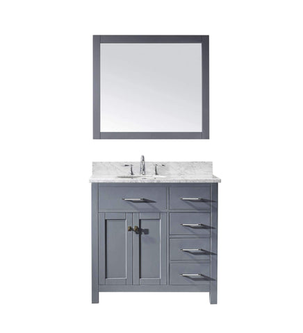 "Image of 36"" Single Bathroom Vanity MS-2136R-WMRO-GR"
