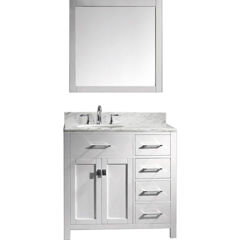 "Image of 36"" Single Bathroom Vanity MS-2136R-WMRO-WH"