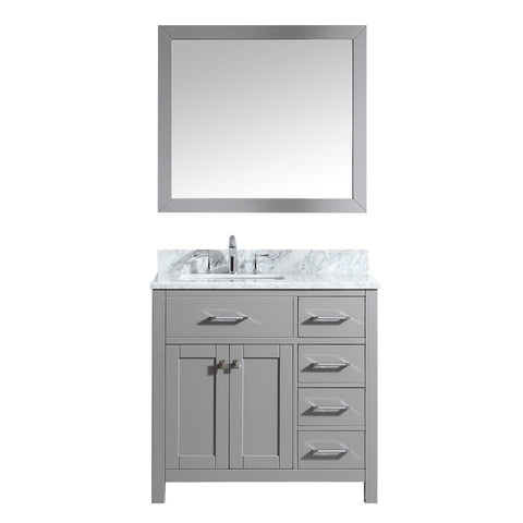 "Image of 36"" Single Bathroom Vanity MS-2136R-WMSQ-CG"