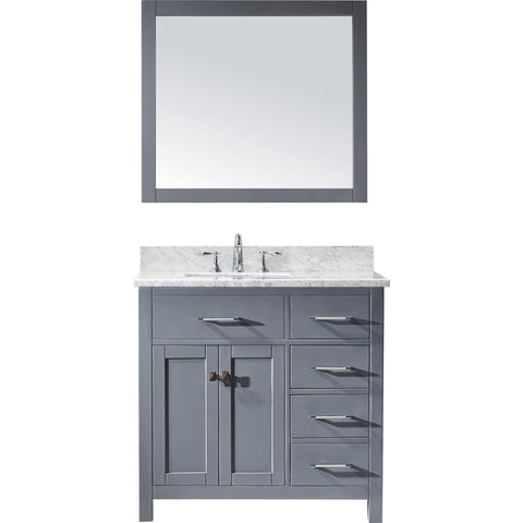 "Image of 36"" Single Bathroom Vanity MS-2136R-WMSQ-GR"