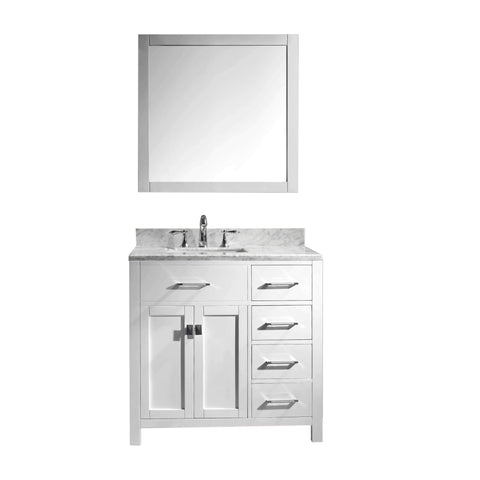 "Image of 36"" Single Bathroom Vanity MS-2136R-WMSQ-WH"