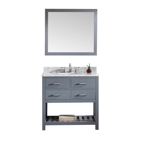 "Image of 36"" Single Bathroom Vanity MS-2236-WMRO-GR"