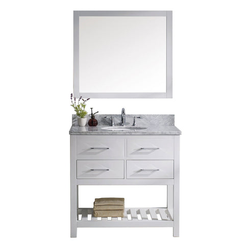 "Image of 36"" Single Bathroom Vanity MS-2236-WMRO-WH"