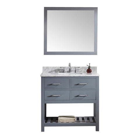 "Image of 36"" Single Bathroom Vanity MS-2236-WMSQ-GR"