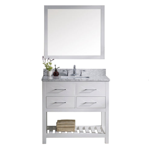 "Image of 36"" Single Bathroom Vanity MS-2236-WMSQ-WH"
