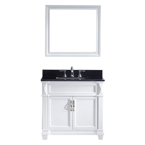 "36"" Single Bathroom Vanity MS-2636-BGSQ-WH"