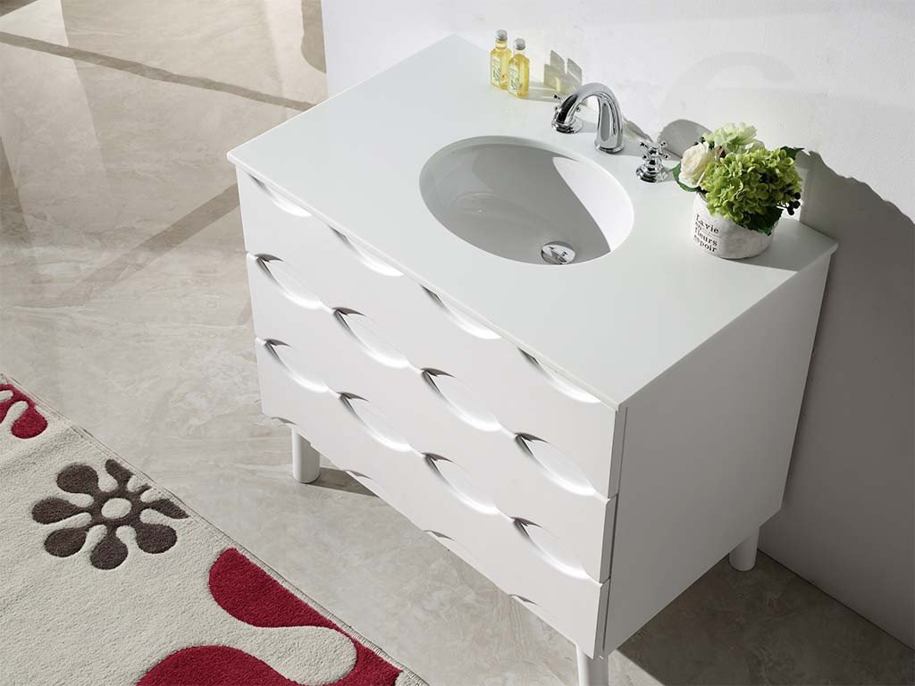 "36"" SOLID WOOD SINK VANITY WITH ARTIFICIAL STONE-NO FAUCET WH5036"