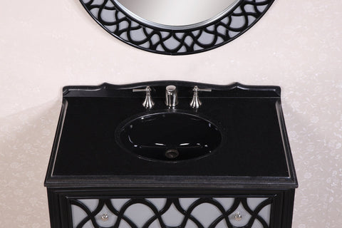"38"" SOLID WOOD SINK VANITY WITH GRANITE TOP-NO FAUCET AND BACKSPLASH WH2838"