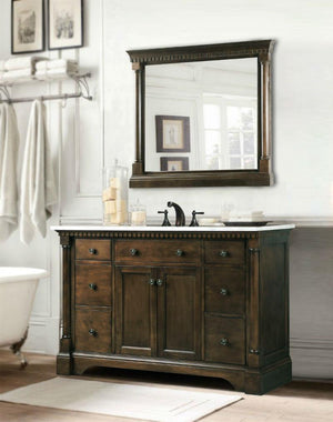 "48"" MIRROR WITH ANTIQUE COFFEE FINISH WLF6036-M-48"""