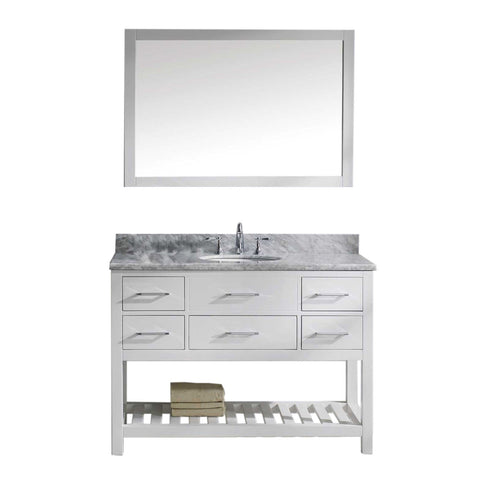 "48"" Single Bathroom Vanity MS-2248-WMRO-WH"