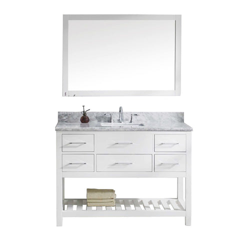 "48"" Single Bathroom Vanity MS-2248-WMSQ-WH"