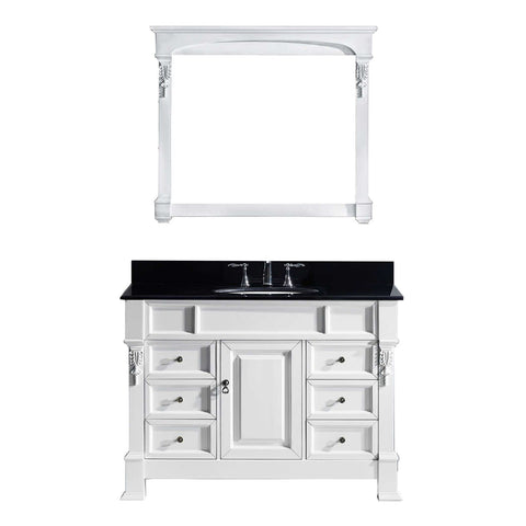 "Image of 48"" Single Bathroom Vanity MS-2948-BGRO-WH"