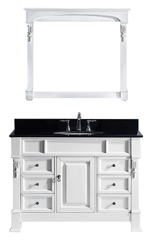 "Image of 48"" Single Bathroom Vanity MS-2948-BGSQ-WH"