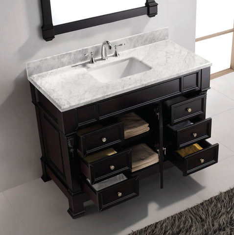 "Image of 48"" Single Bathroom Vanity MS-2948-WMRO-DW"
