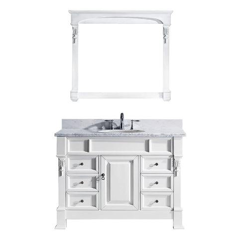 "Image of 48"" Single Bathroom Vanity MS-2948-WMRO-WH"